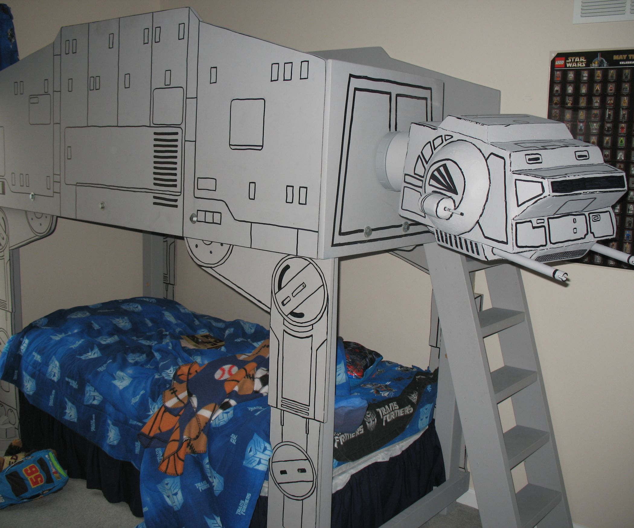 Baby bed with slide - Star Wars At At Imperial Walker Loft Bed