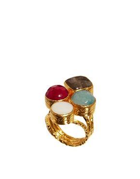 Ottoman Hands Semi Precious Four Stone Ring
