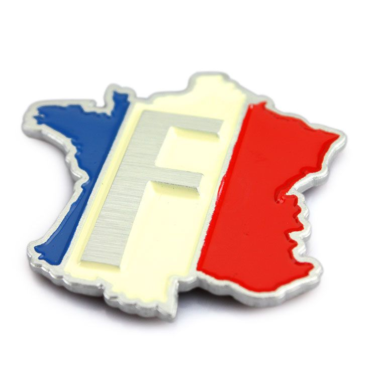 Car decoration stickers french flag body stickers french flag stickers map badge