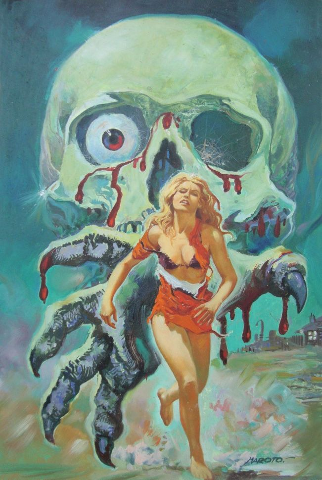 …pulp horror art by Esteban Maroto