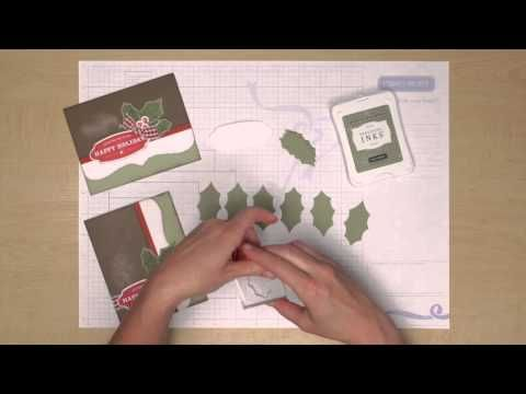 A short video for help on making holiday cards. #CTMH