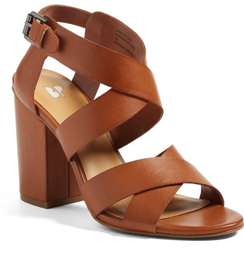 38bf33ea256 1 Pair of Brown Block Heel Sandals