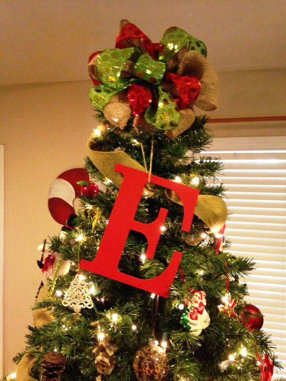 Tree Topper Initial by LittleACreations23 on Etsy - Tree Topper Initial By LittleACreations23 On Etsy A Very Merry