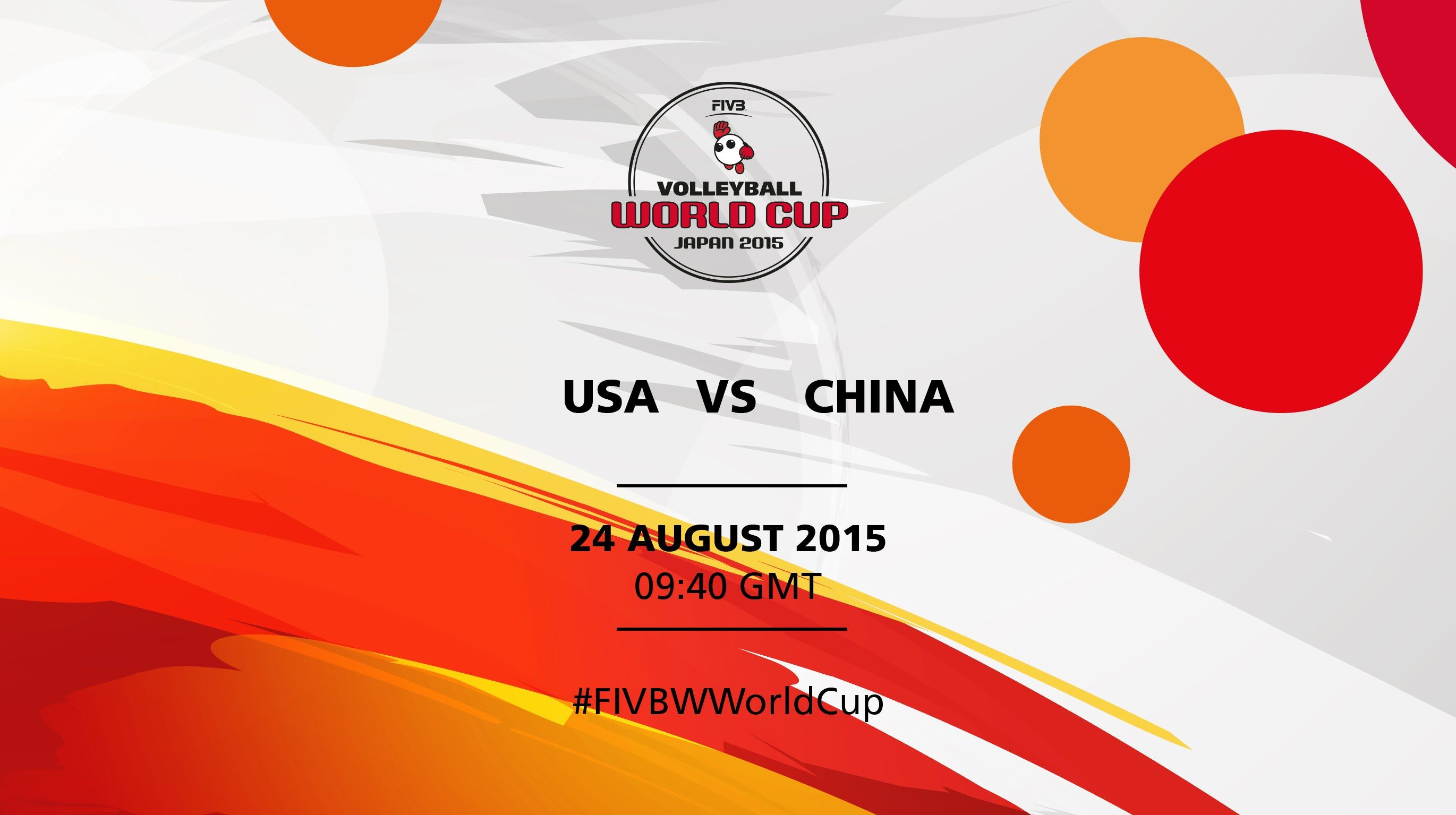 Usa V China Fivb Volleyball Women S World Cup Japan 2015 Mens World Cup Volleyball World Cup