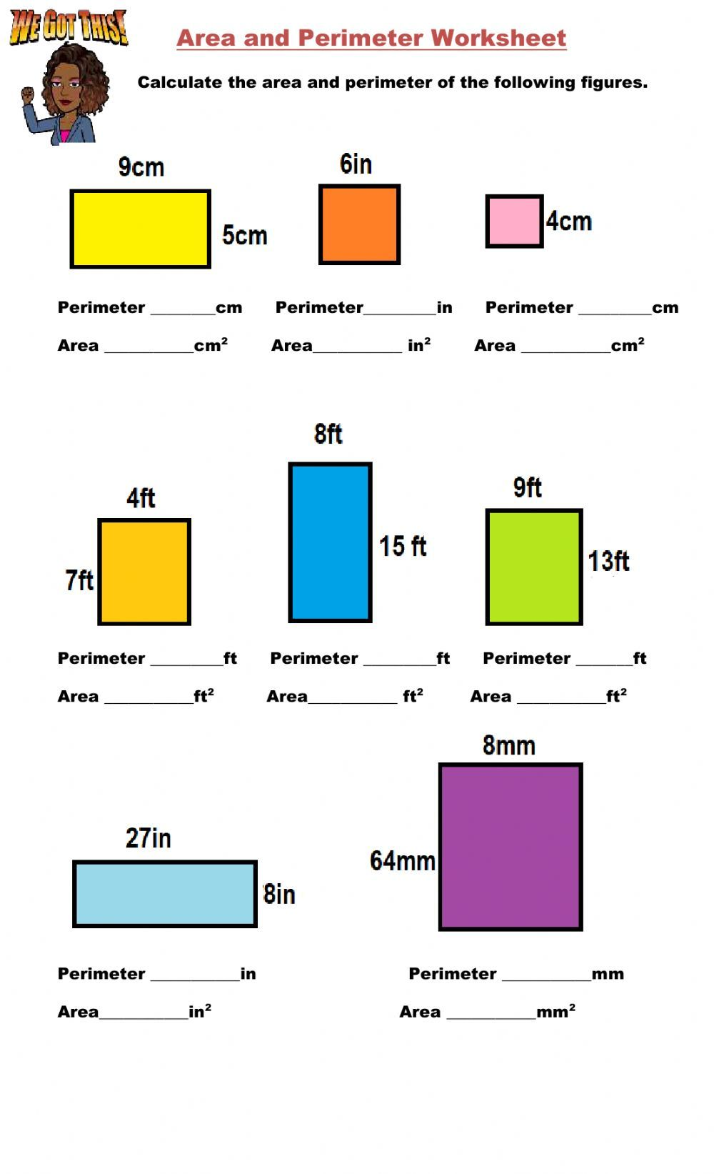 Area And Perimeter Interactive Activity For 4 6 You Can Do The Exercises Online Or Downl In 2021 Area And Perimeter Worksheets Area And Perimeter Perimeter Worksheets [ 1643 x 1000 Pixel ]