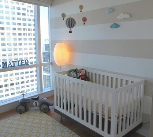 Habitaci n para beb peque a y muy luminosa decoraci n for Cuna para habitacion pequena
