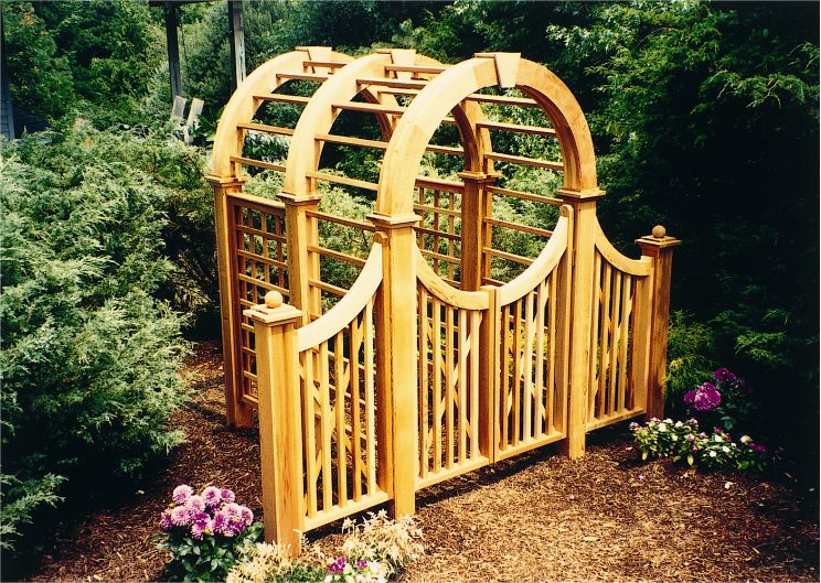 Exceptional Garden Arbor With Gate   Bing Images