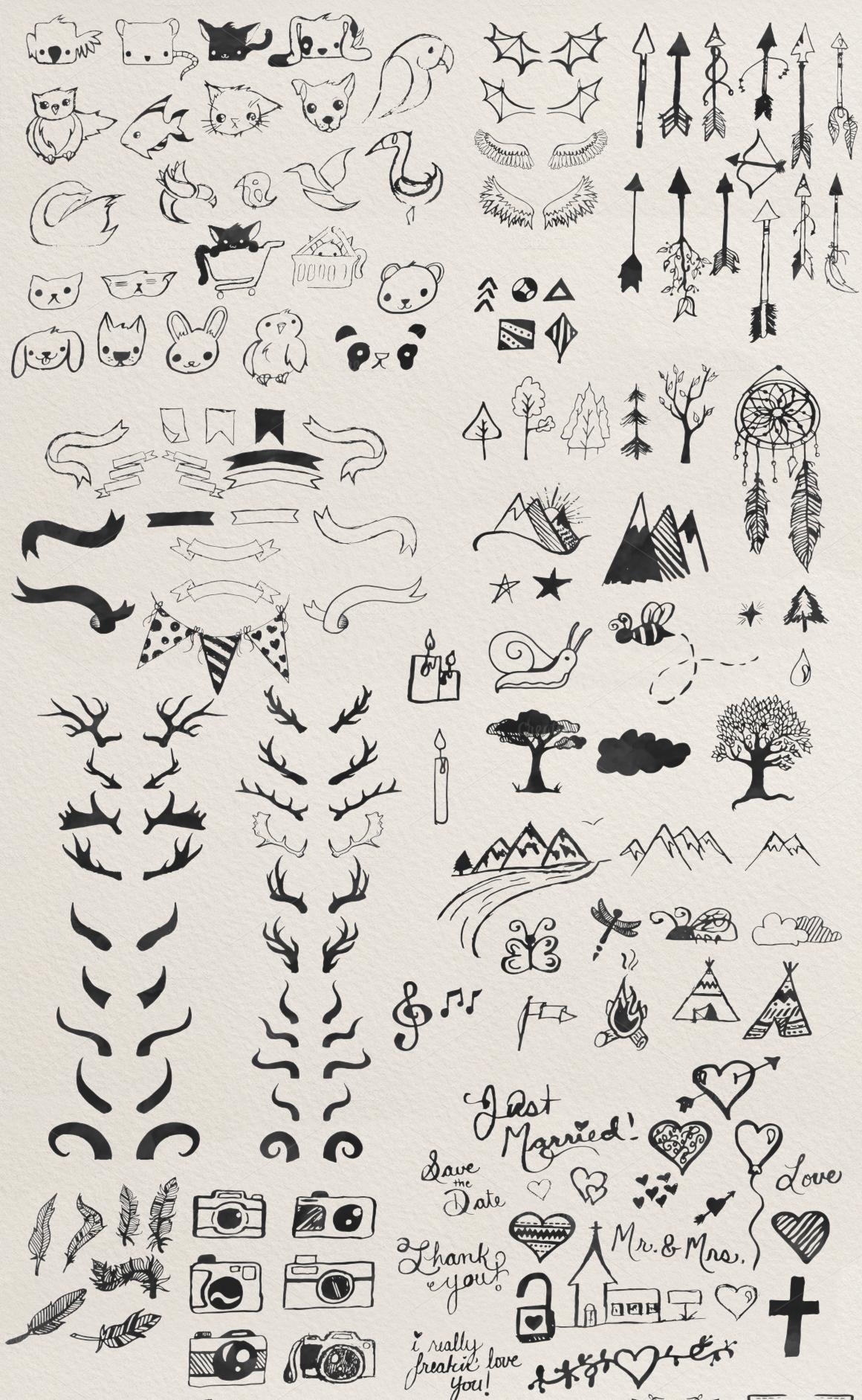 The Freakin' Big Illustration Pack by Brandi Lea Designs