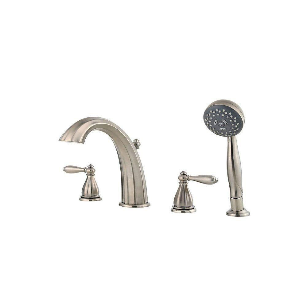 Price Pfister Portola 2 Handle Deck Mount Roman Tub Faucet With