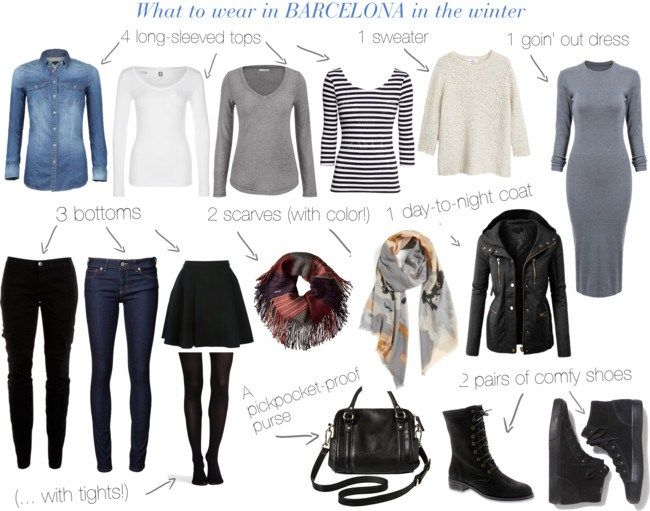 What to wear in Barcelona in the winter