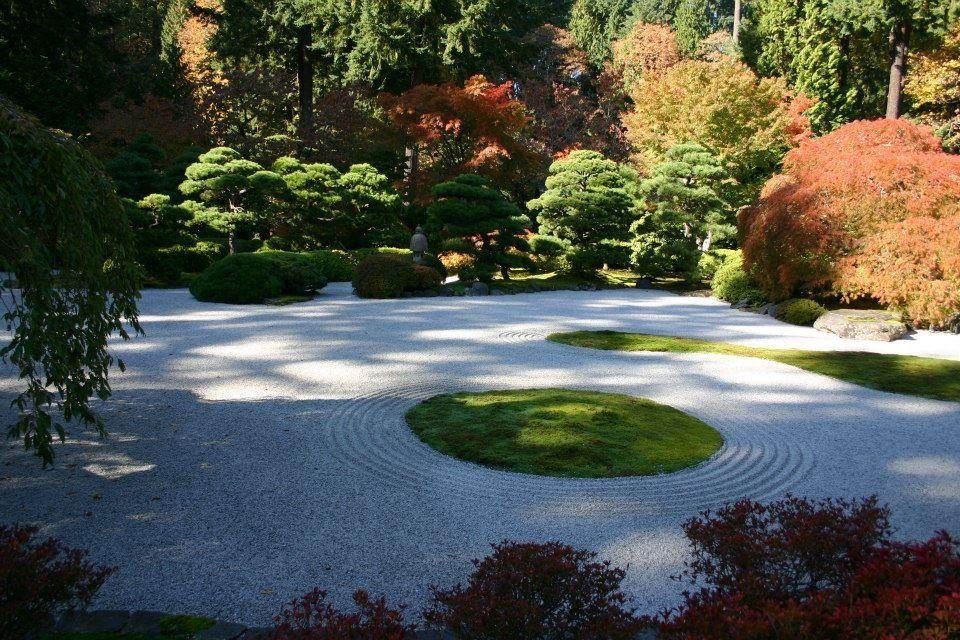 Sand garden at the Portland Japanese Garden Portland