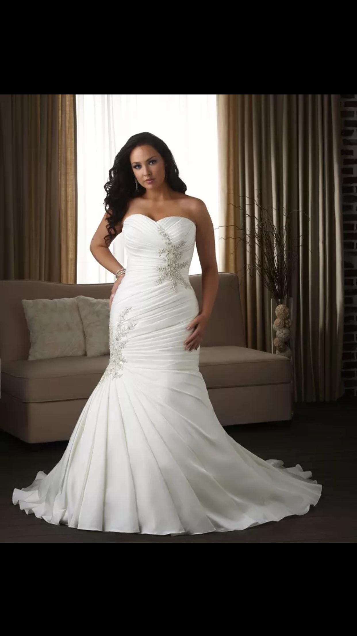 Wedding dresses for big women  Pin by zenariah gameeldien on wedding dresses  Pinterest  Wedding