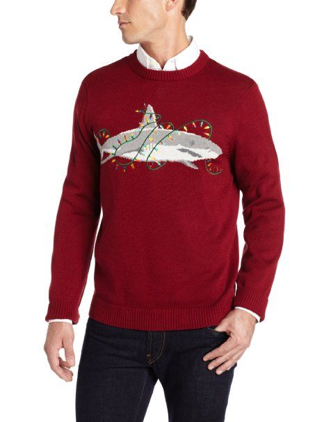 Amazoncom Alex Stevens Mens Sharky Ugly Christmas Sweater