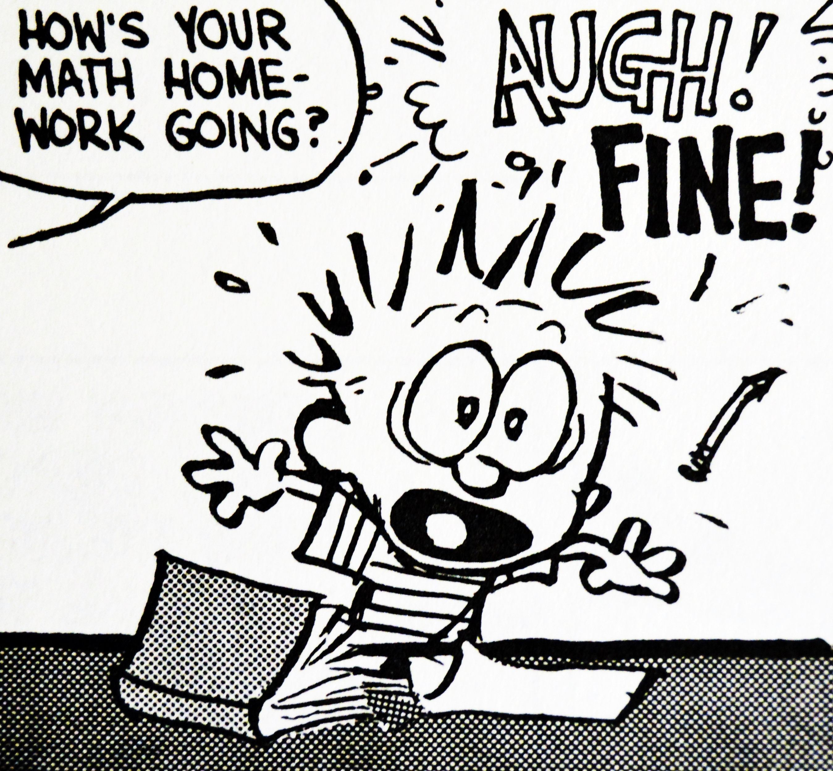 """Calvin and Hobbes QUOTE OF THE DAY (DA): """"When I grow up I want to be an inventor. First I will invent a time machine. Then I'll come back to yesterday and take myself to tomorrow and skip this dumb assignment.""""  ― Bill Watterson"""