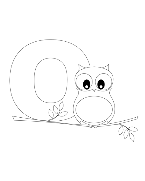 Letter O Coloring Page Owl Coloring Pages Cool Coloring Pages Free Kids Coloring Pages