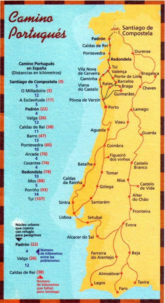 Mapas Do Caminho De Santiago Caminho De Santiago De Compostela
