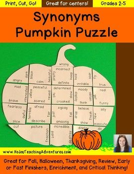 Fall centers synonyms pumpkin puzzle september literacy centers fall centers synonyms pumpkin puzzle september literacy centers m4hsunfo