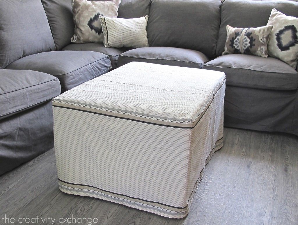 My Dish Towel Ottoman Slipcover? (Office/Craft Room Update ...