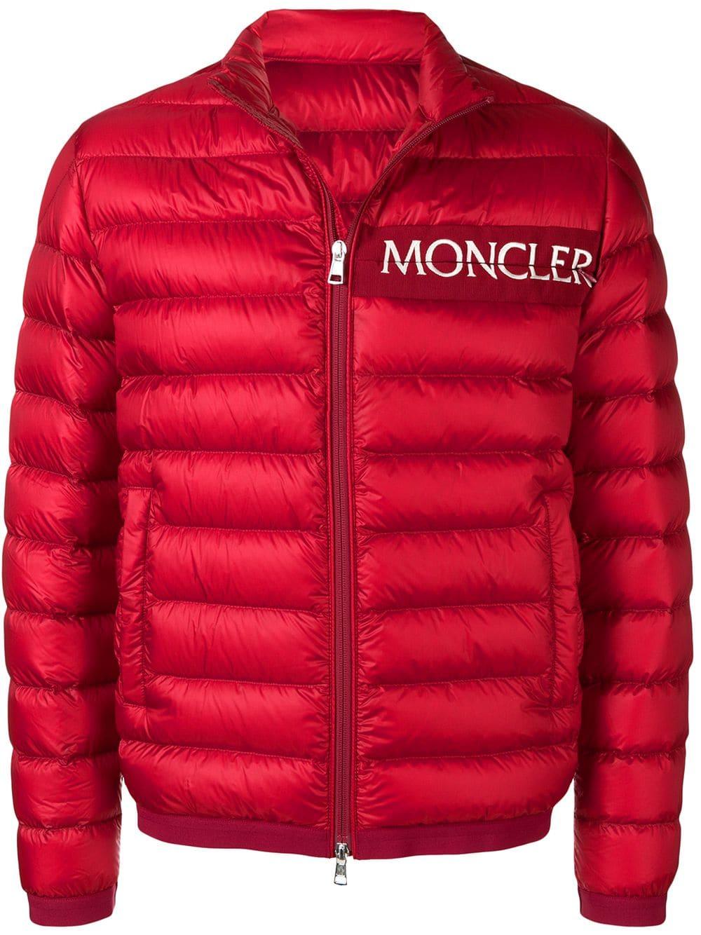 Moncler Moncler Logo Padded Jacket Red Moncler Cloth Moncler Jacket Jackets Padded Jacket [ 1334 x 1000 Pixel ]