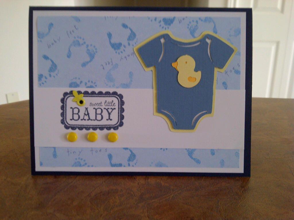 Wedding scrapbook ideas using cricut - Baby Boy Card Using Cricut Cartridge Lifes A Party