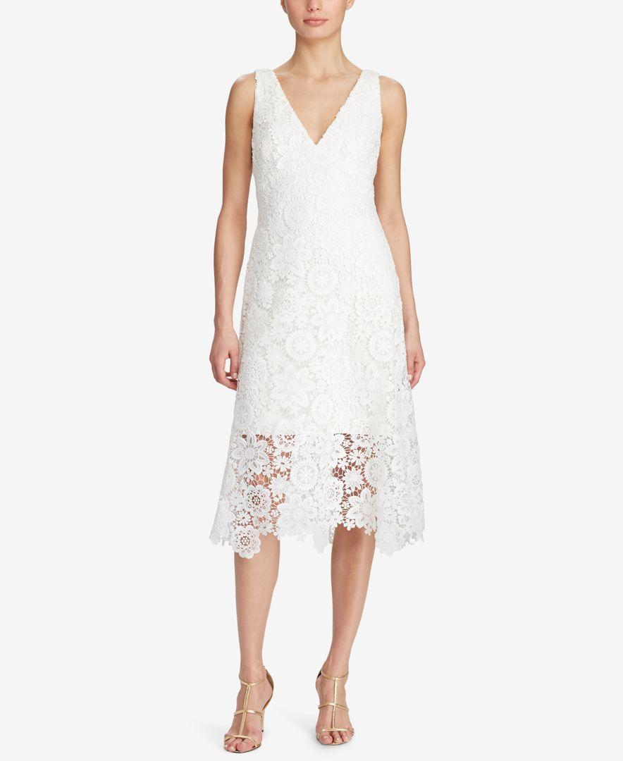 Lauren ralph lauren lace midi dress lace midi dress