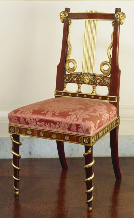"The Royal Collection: Set of 12 chairs for George IV, King of the United Kingdom (1762-1820) Provenance: Possibly made in England c.1790 for Carlton House; possibly to be identified with the ""twelve maho..chair frames, a la Truce"", which Francois Hervé supplied in 1792 for the Ground Floor Dining Room at Carlton House"