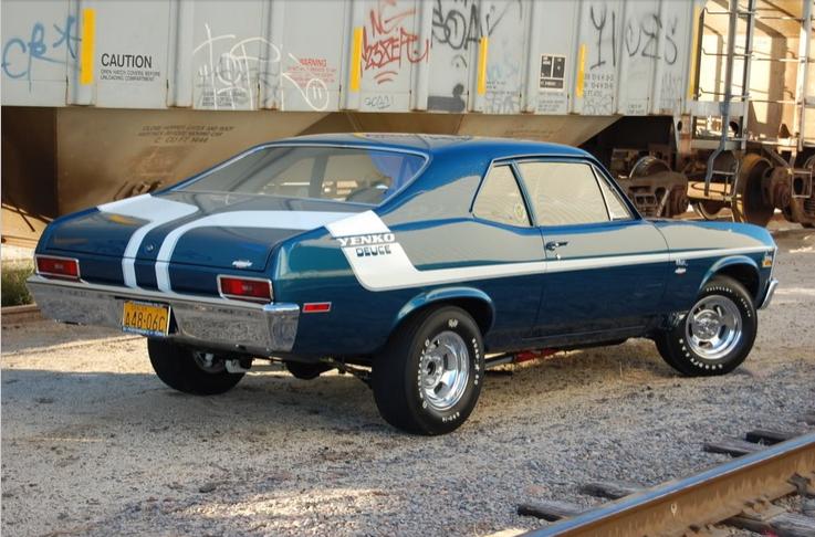 1970 Chevrolet Nova Yenko Deuce 350 Cid 370 Horsepower Small Block Lt1 Option Code Blue With White Stripe Chevy Muscle Cars Classic Cars Trucks Car Chevrolet