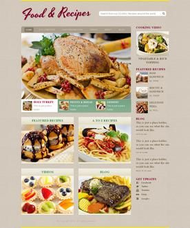 Cooking recipe web template design pinterest free website todays new template is a recipe website template good for a cooking recipe website or any other website about food forumfinder Gallery