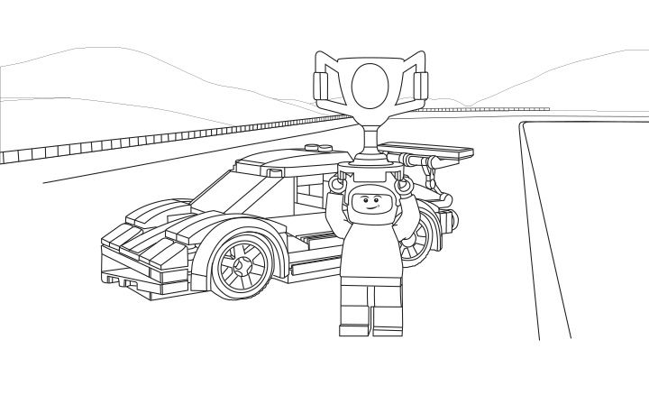 Lego Coloring Sheet 60053 Race Car 2 Lego Coloring Pages