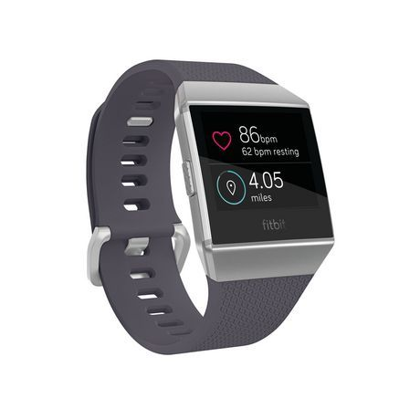Fitbit Ionic Smartwatch, Gray Aluminum Case With Blue Band