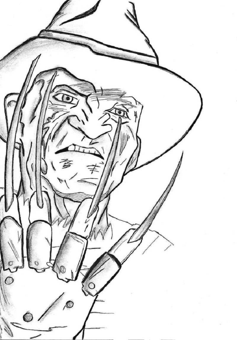 Freddy Krueger Coloring Pages for Free Printable Download