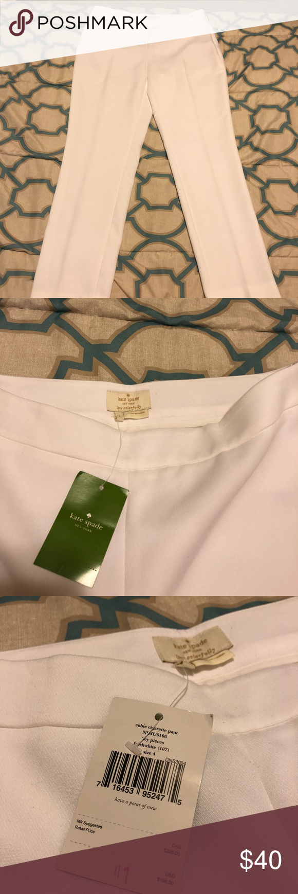 Kate Spade white slacks Kate Spade simple white, comfy slacks with side zipper.  New with tags, never been worn! kate spade Pants #whiteslacks Kate Spade white slacks Kate Spade simple white, comfy slacks with side zipper.  New with tags, never been worn! kate spade Pants #whiteslacks Kate Spade white slacks Kate Spade simple white, comfy slacks with side zipper.  New with tags, never been worn! kate spade Pants #whiteslacks Kate Spade white slacks Kate Spade simple white, comfy slacks with side #whiteslacks