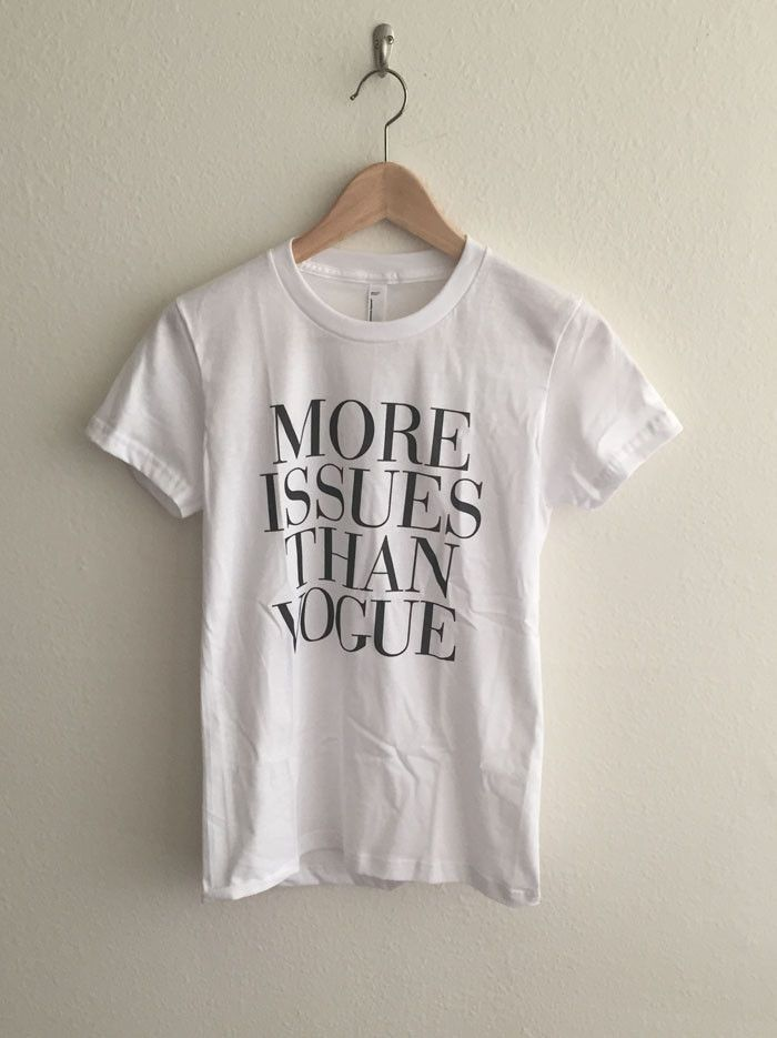 More Issues Than Vogue Women s Graphic T Shirt   Clothes   Shirts, T ... 98ef41972f