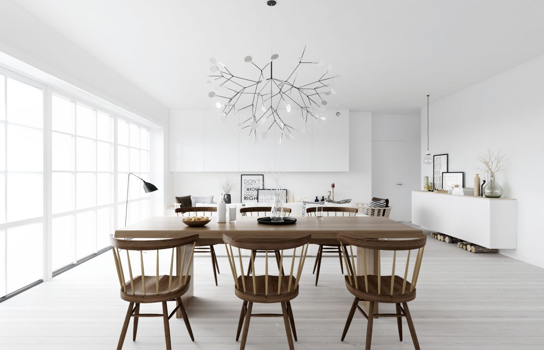 Heracleum Ii Led Suspensionbertjan Pot For Moooi Pl370  Woods Interesting Scandinavian Dining Room Design Inspiration
