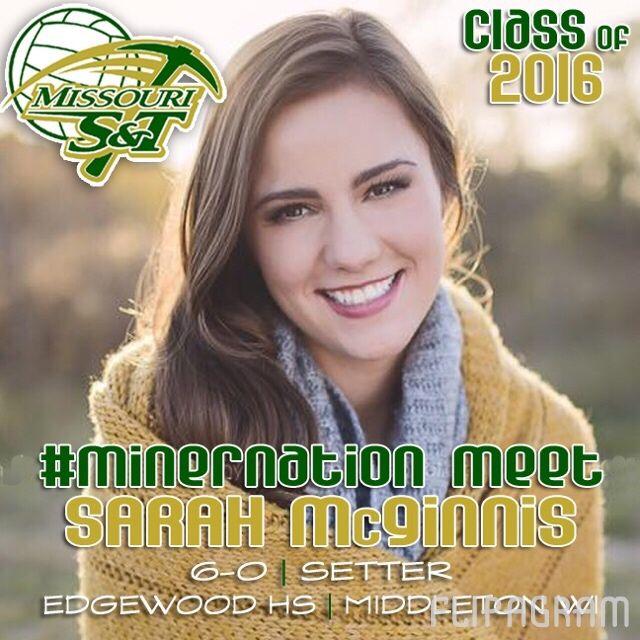▶ 2016 #MinerVB Recruiting Class: SARAH McGINNIS   6-0   Setter   Edgewood HS   Capital VBC   Middleton, Wisconsin