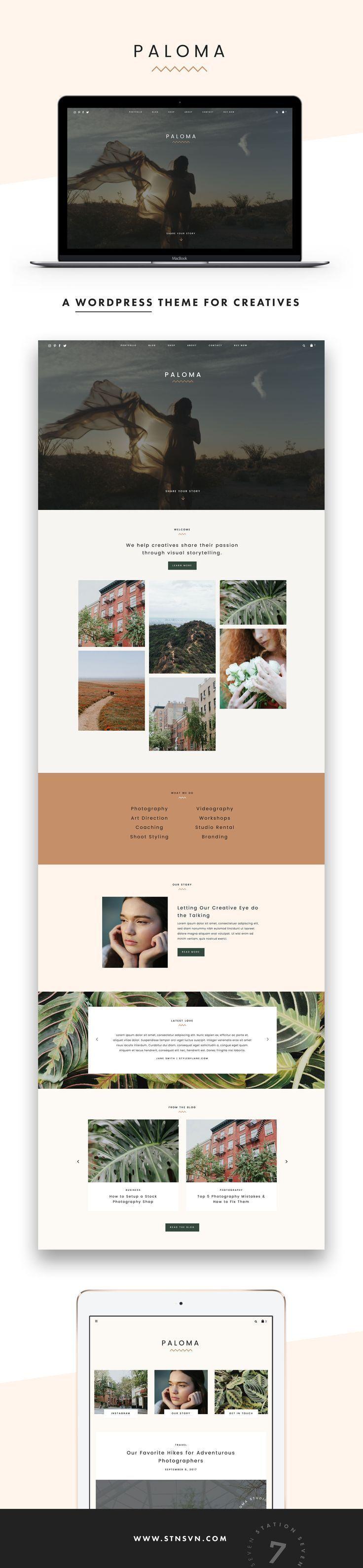 Paloma WordPress Theme — Station Seven Squarespace