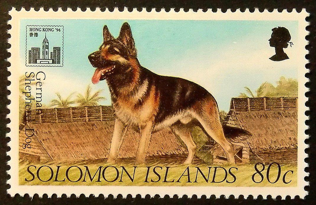 German Shepherd Dog Framed Postage Stamp Art 14946 Postage Stamp Art Black German Shepherd Dog Postage Stamps