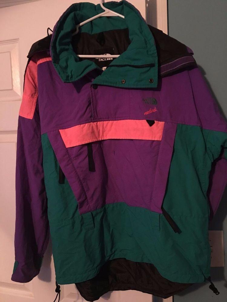 Vintage 80 s The North Face Ski Jacket Purple Green M  TheNorthFace  Ski fcb6db71e