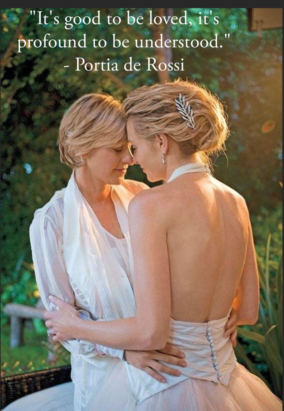 Portia De Rossi Wedding Kiss.Pin By Zsa Zsa P On Mrs Pereda In 2019 Ellen Portia