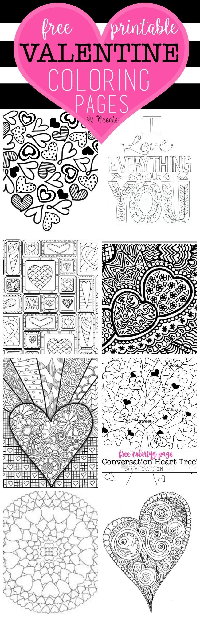 Free printable coloring pages for valentines day - Free Valentine Coloring Pages
