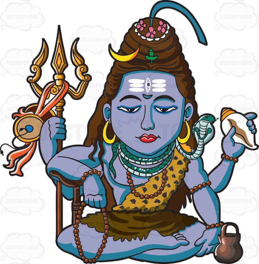 The Hindu God Shiva #cartoon #clipart #vector #vectortoons #stockimage #stockart #art