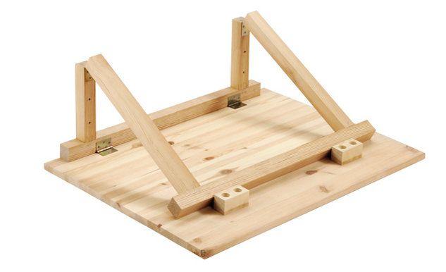 Wandklapptisch selber bauen  Wandklapptisch selber bauen | мебель | Wandklapptisch, Klapptisch ...