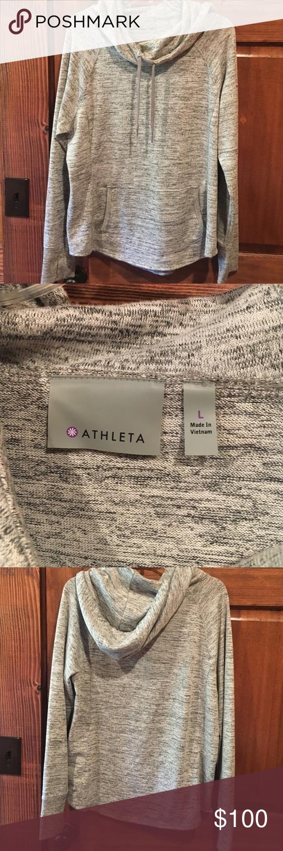 Comfortable sweater with scoop neck Comfortable scoop neck sweater/hoodie medium weight flowy trendy neck line Athleta Jackets & Coats