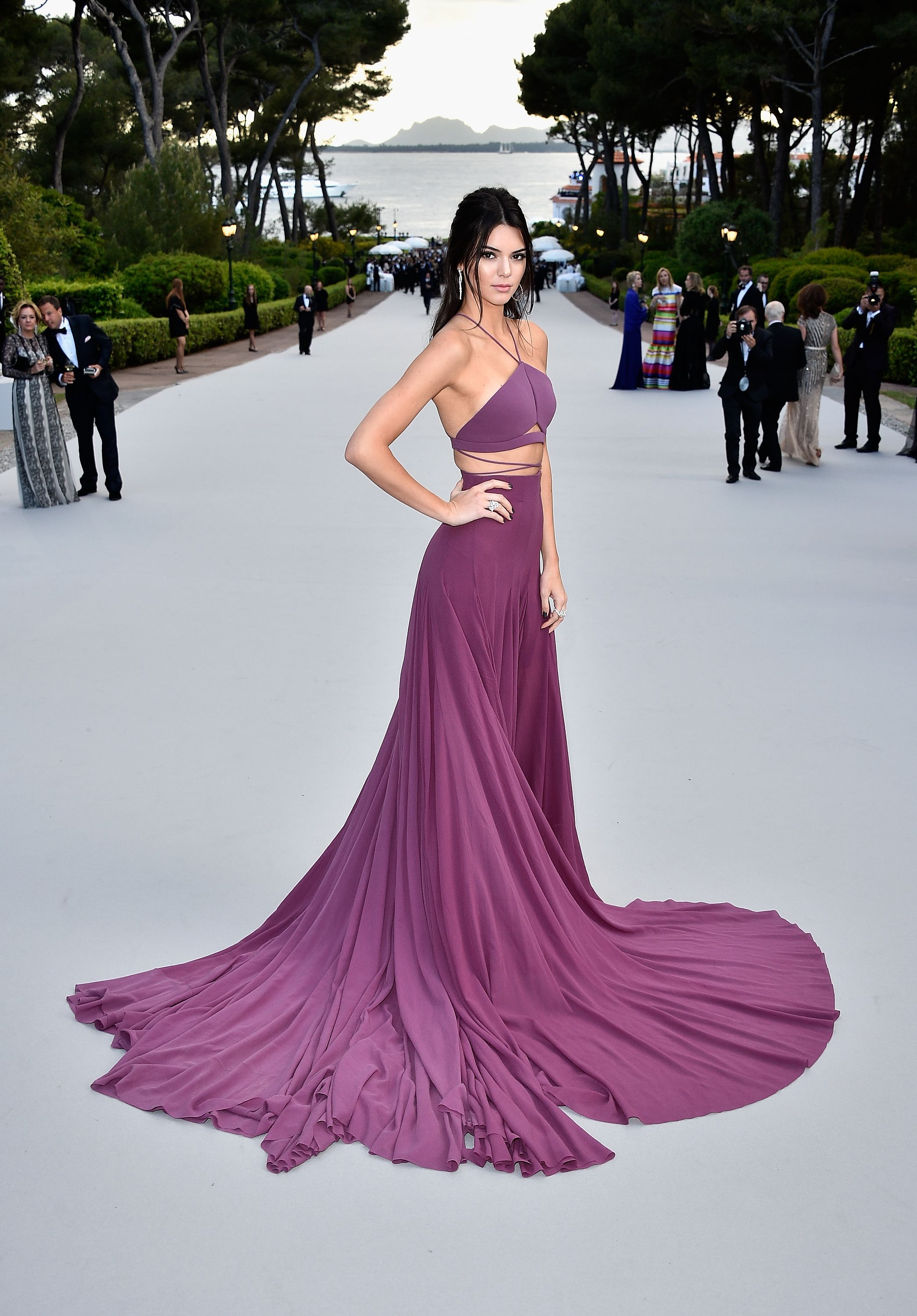 Making an entrance with Kendall Jenner at the amfAR Cinema Against ...