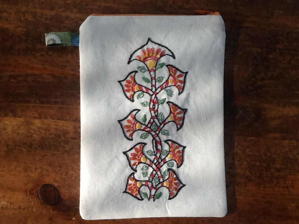Embroidered kindle case