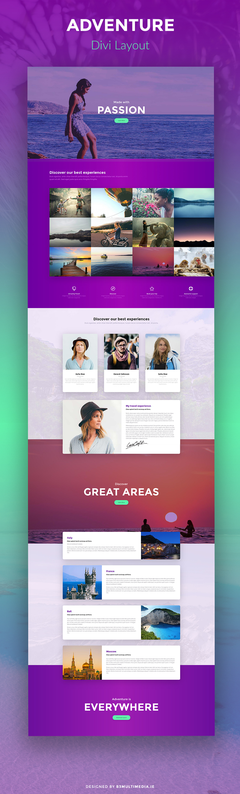Adventure divi layout best of websites pinterest layout