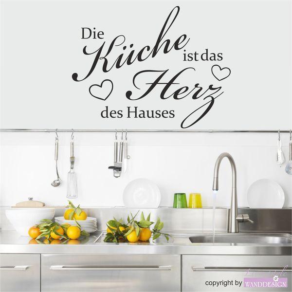 Wandtattoo-Spruch Die Küche) von chef1274 via dawanda.com | Deko ...