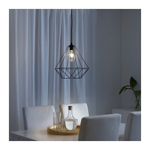 Brunsta pendant lamp shade ikea over kitchen peninsula
