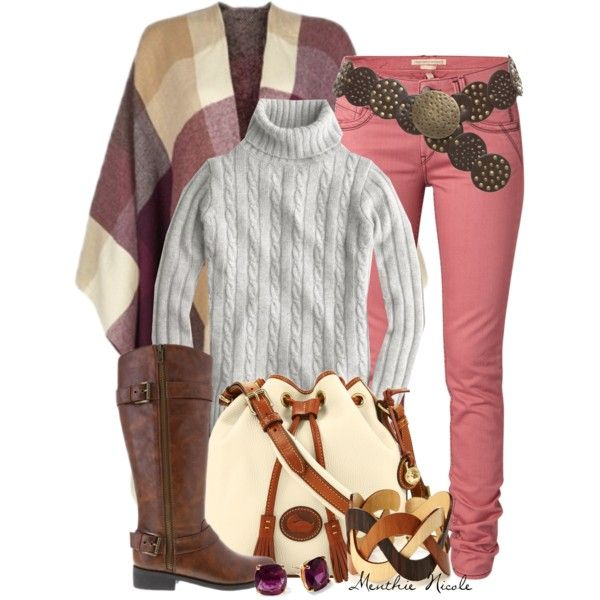 Poncho, created by menthie-nicole-gomes on Polyvore