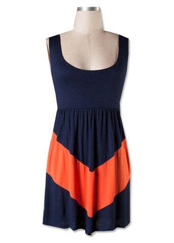 1f0b3f0a1 Navy & Orange Chevron Gameday Dress! | lookingood. | Dresses ...